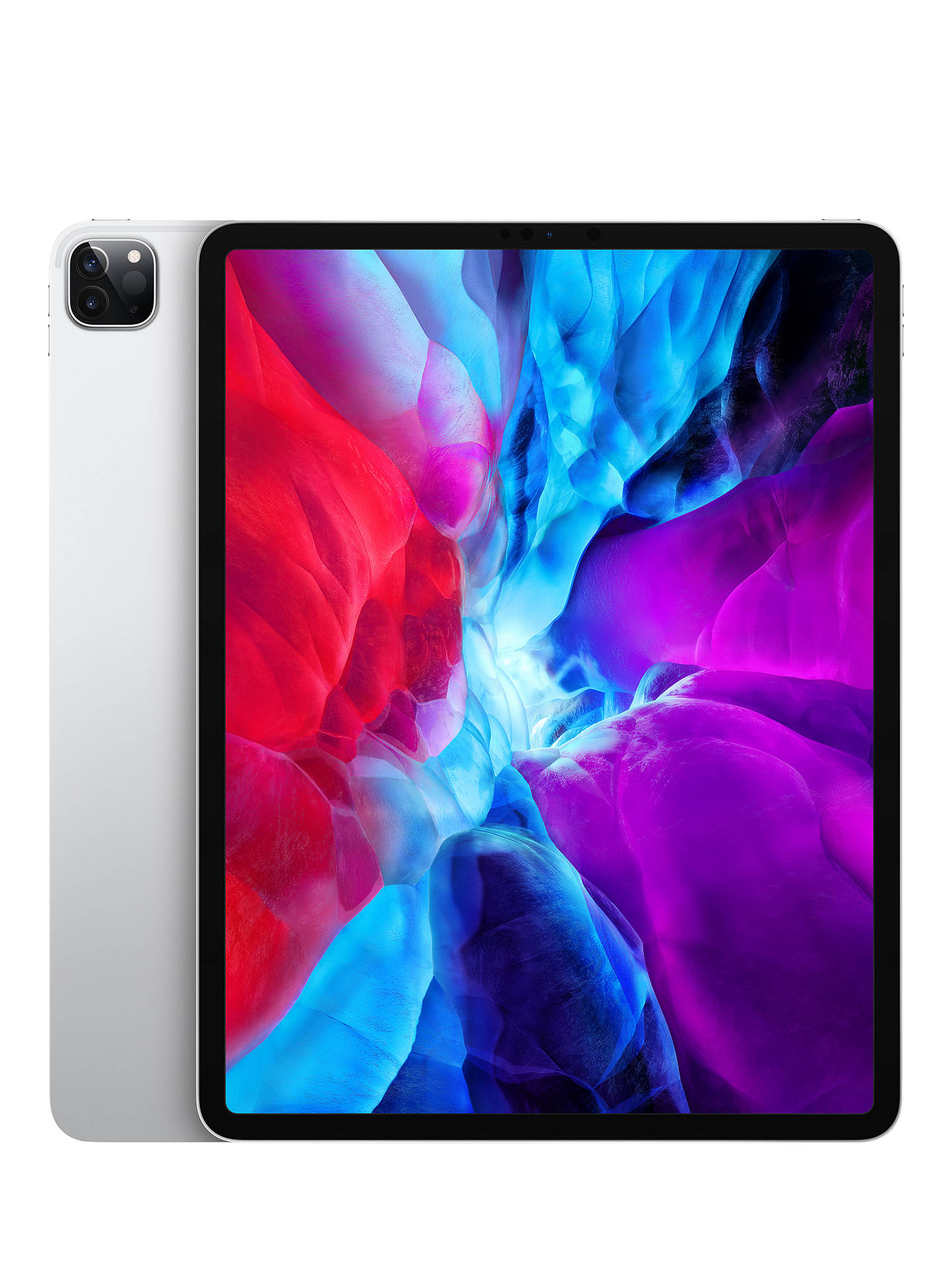 "Buy 2020 Apple iPad Pro 12.9"", A12Z Bionic, iOS, Wi-Fi, 256GB, Silver Online at johnlewis.com"