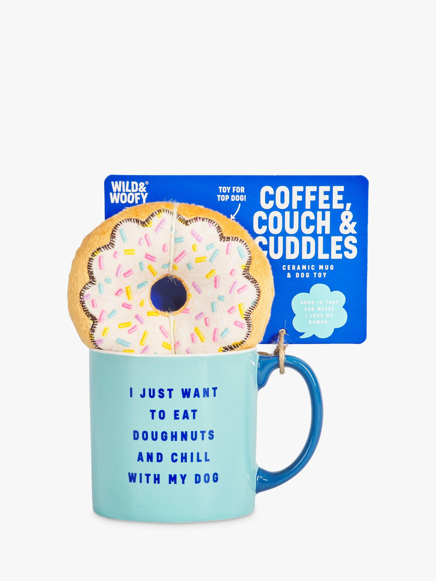 Wild & Woofy Doughnut Mug & Dog Toy Set