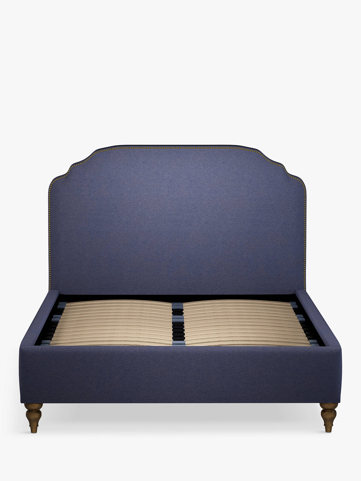 Buy John Lewis & Partners Studded Upholstered Bed Frame, Double, Mole Navy Online at johnlewis.com