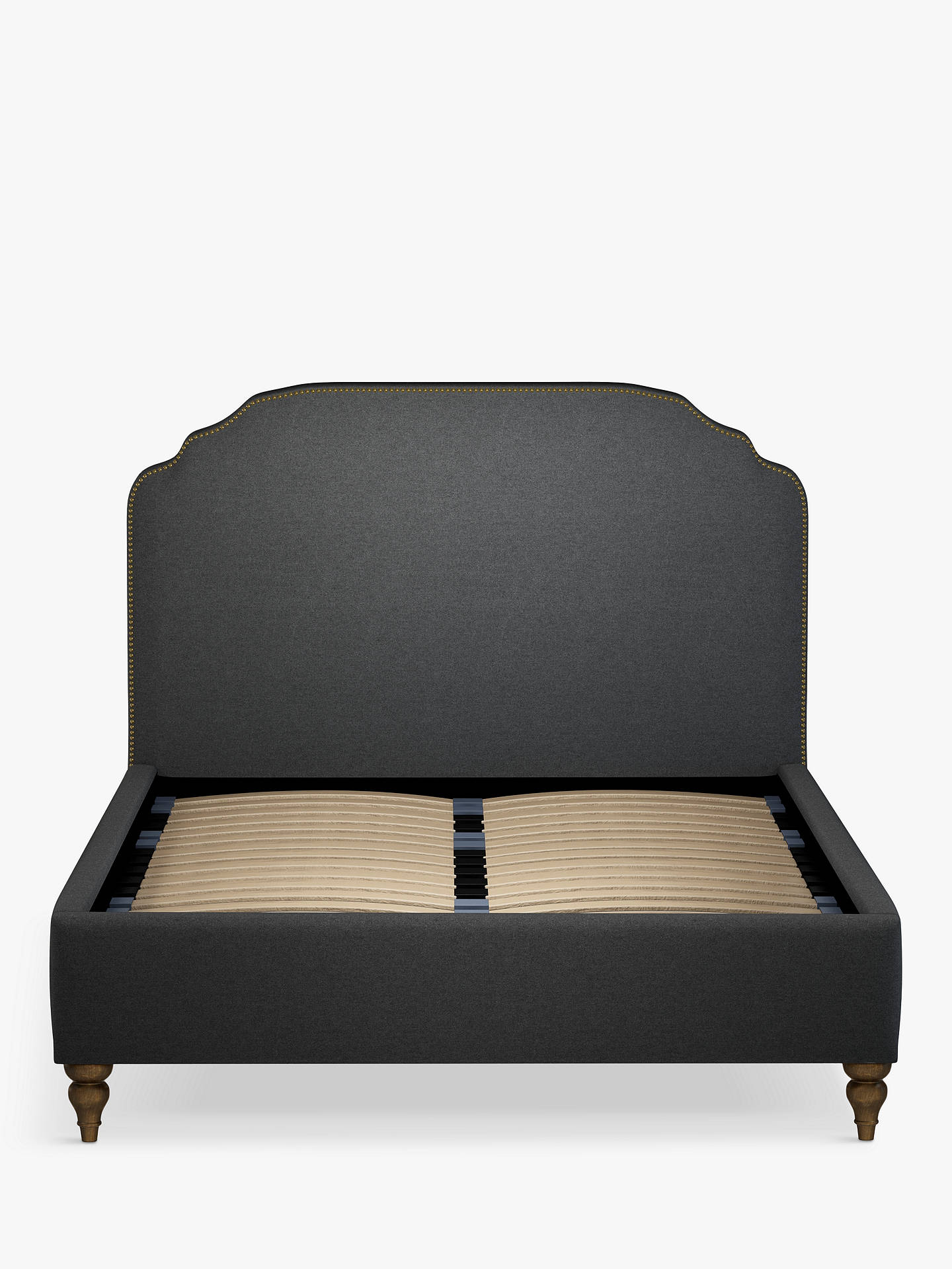 Buy John Lewis & Partners Studded Upholstered Bed Frame, Double, Mole Charcoal Online at johnlewis.com