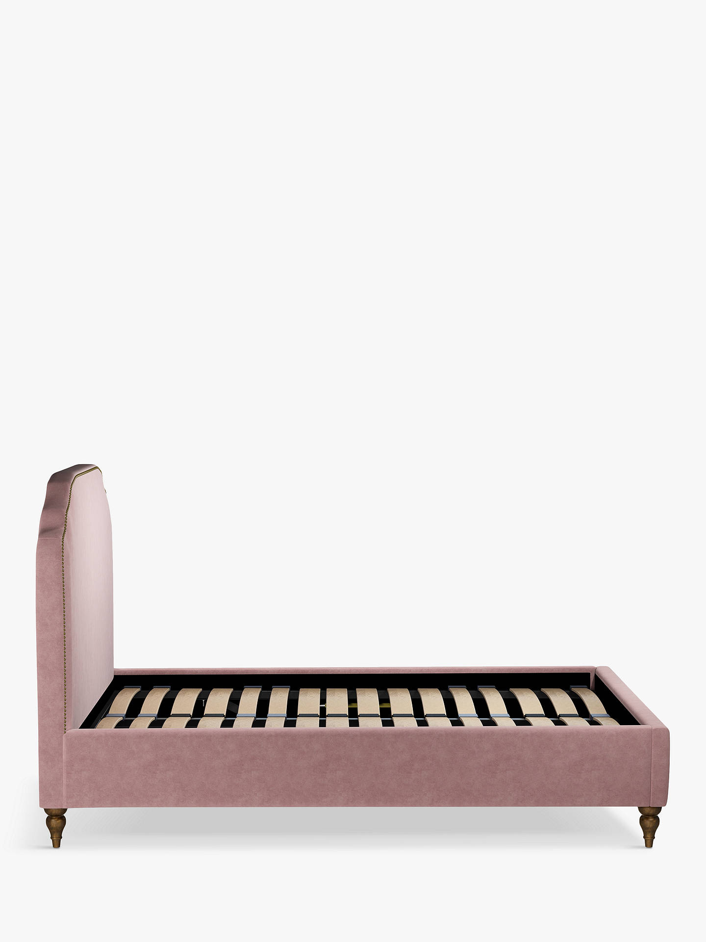 Buy John Lewis & Partners Studded Upholstered Bed Frame, Double, Aquaclean Harriet Rose Online at johnlewis.com