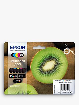 Epson Kiwi 202 Inkjet Printer Cartridge Multipack, Pack of 5