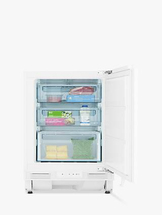 John Lewis & Partners JLBIUCFZ03 Integrated Under Counter Freezer, 60cm Wide, White