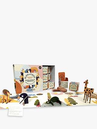 PLAYin CHOC Endangered Animal Organic Chocolate and Surprise Toy, Box of 18, 360g