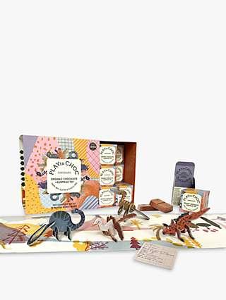 PLAYin CHOC Dinosaurs Organic Chocolate and Surprise Toy, Box of 18, 360g