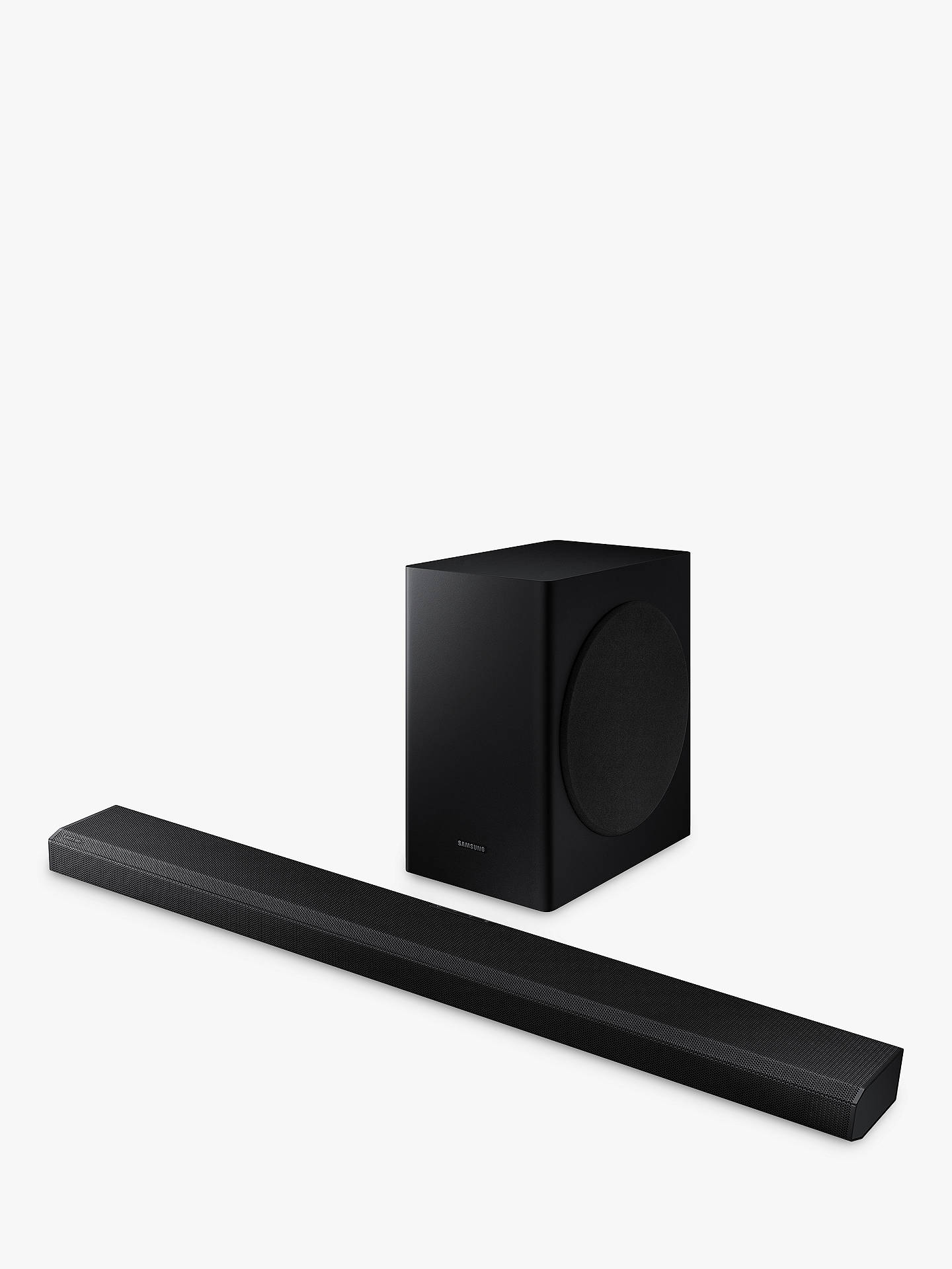 Buy Samsung HW-Q70T Bluetooth Wi-Fi Cinematic Sound Bar with Dolby Atmos, Virtual DTS:X & Wireless Subwoofer Online at johnlewis.com