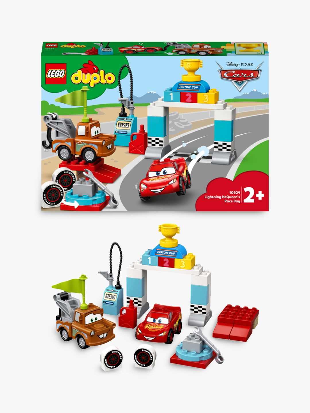 Lego Duplo 10924 Lightning Mcqueen S Race Day At John Lewis Partners
