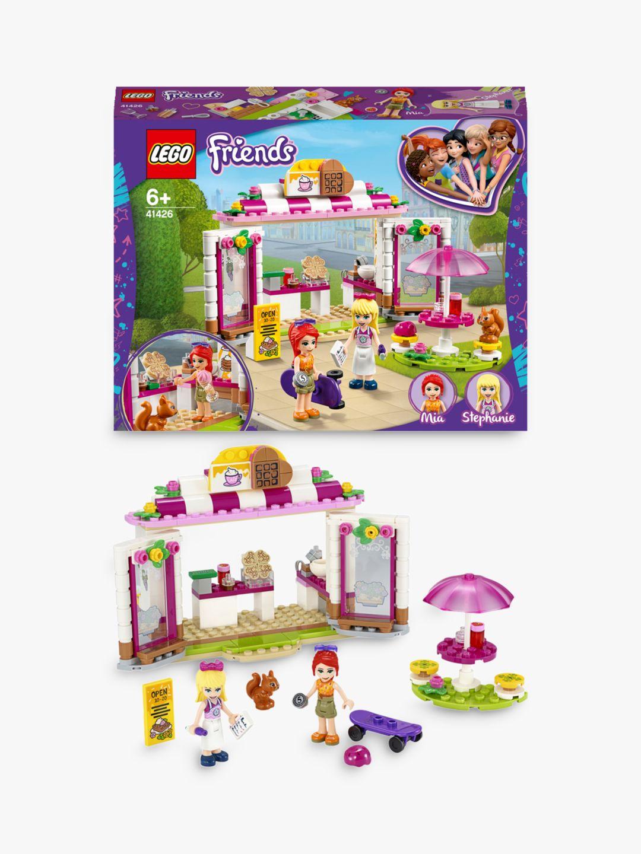 LEGO 41426 Friends Heartlake City Park Caf/é Play Set with Ice Cream Coffee Shop /& Stephanie Mini Doll