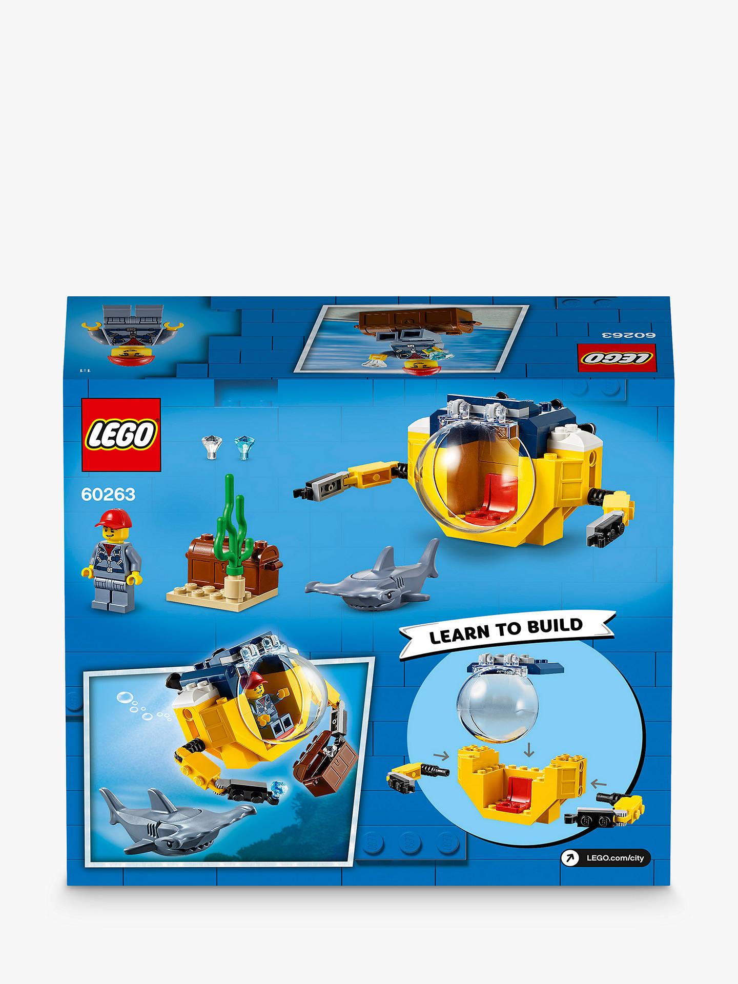 LEGO City 60263 Ocean Mini-Submarine at John Lewis & Partners