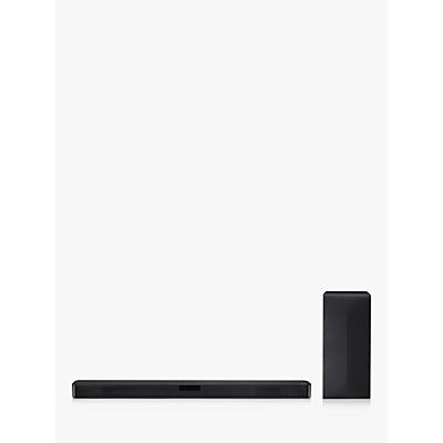 Image of LG SN4 Bluetooth Sound Bar with Wireless Subwoofer, Black