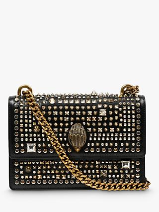 Kurt Geiger London Shoreditch Small Leather Studded Cross Body Bag, Black/Multi