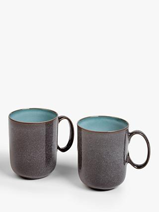 John Lewis & Partners Ceramic Reactive Glaze Mugs, 320ml, Set of 2