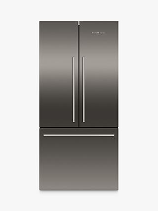 Fisher & Paykel RF522ADB4 3-Door 70/30 Fridge Freezer, 79cm Wide, Black Steel
