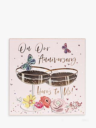 Belly Button Designs Here's to Us Anniversary Card
