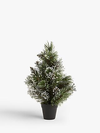 John Lewis & Partners Impressionism Frosted Mini Pine Tree