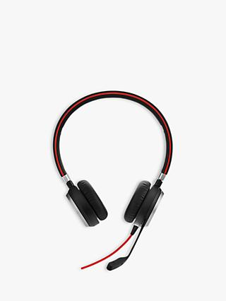 Jabra Evolve 40 On-Ear USB Headphones with Mic Headset