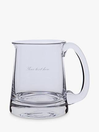 Dartington Crystal Personalised Glass Torrington Tankard, 570ml, Palace Script Font
