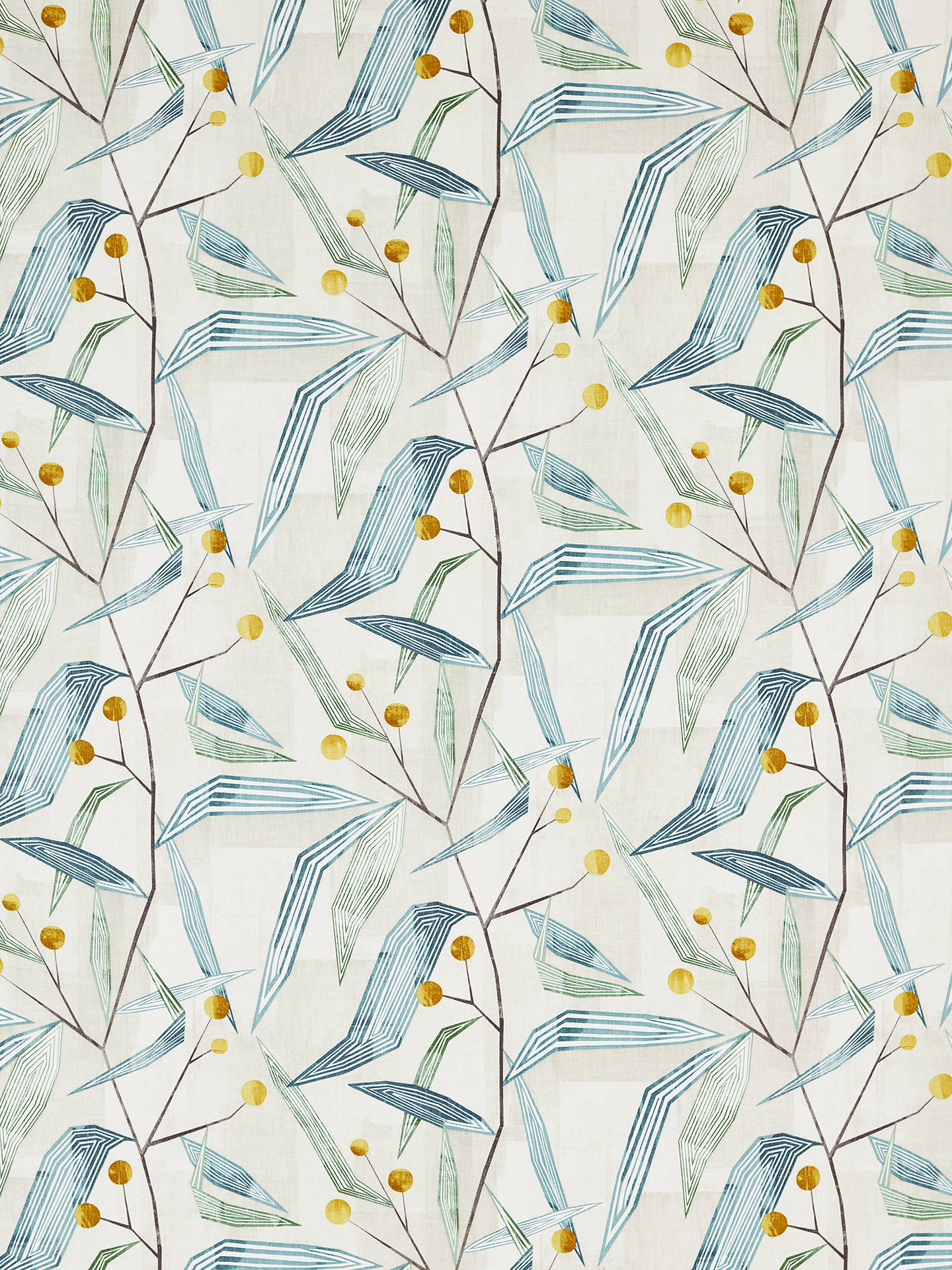 Buy Harlequin Entity Furnishing Fabric, Emerald/Ochre Online at johnlewis.com