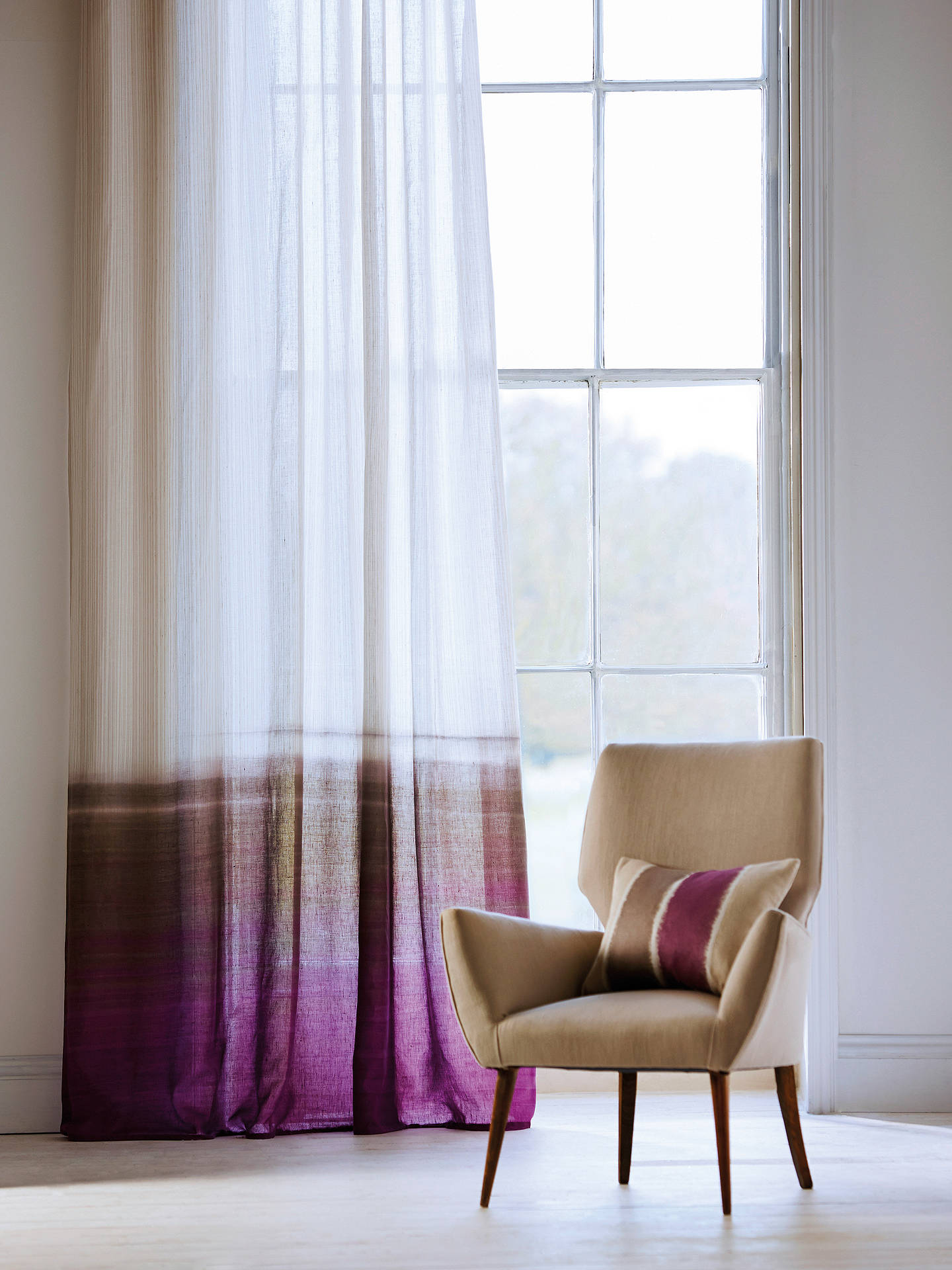 Buy Harlequin Tranquil Voile Fabric, Walnut/Magenta Online at johnlewis.com