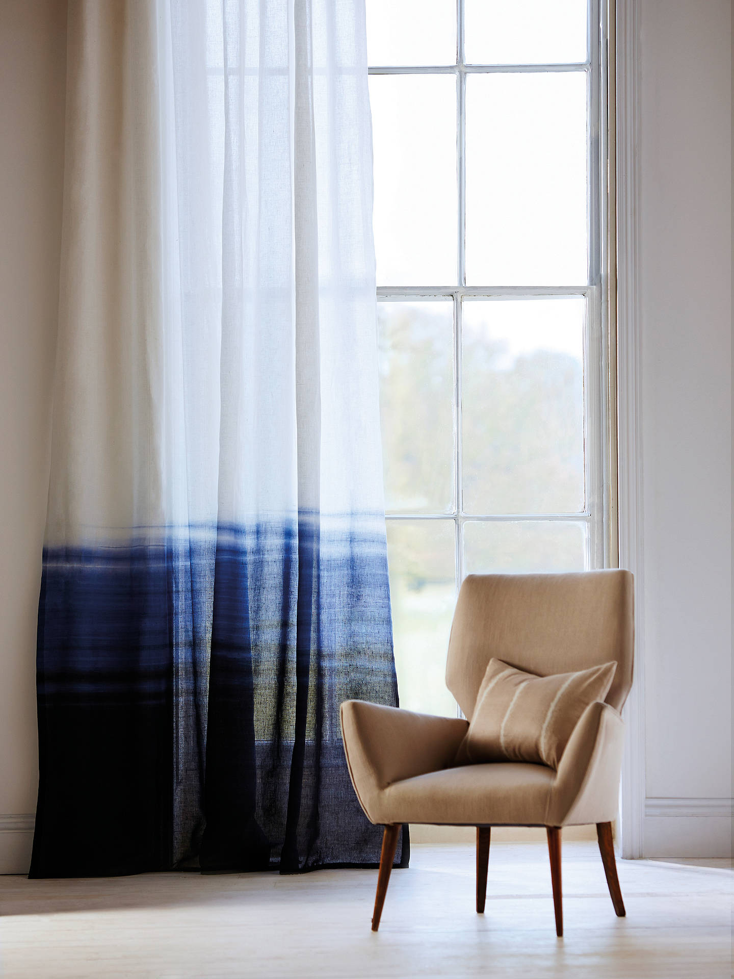 Buy Harlequin Tranquil Voile Fabric, Indigo/Denim Online at johnlewis.com