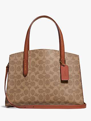 Coach Charlie 28 Signature Carryall Tote Bag, Rust