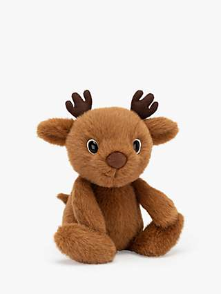 Jellycat Fuzzle Reindeer Soft Toy, Brown