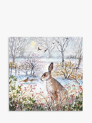 Museums & Galleries Frosty Morning Hare Charity Christmas Cards, Pack of 8
