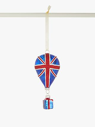 John Lewis & Partners Tourism Union Flag Balloon with Gift Bauble, Multi