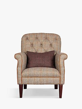 Flynn II Range, Tetrad Flynn II Armchair, Bracken with Brompton Tan Leather Piping