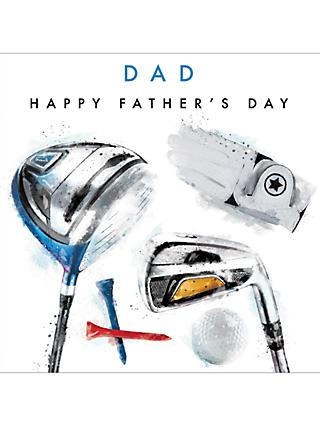 Cardmix Golf Clubs Father's Day Card