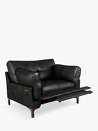 John Lewis & Partners Java II Motion Leather Armchair with Footrest Mechanism, Dark Leg
