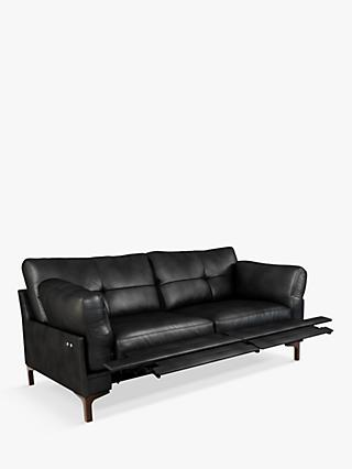 John Lewis & Partners Java II Motion Medium 2 Seater Leather Sofa with Footrest Mechanism, Dark Leg