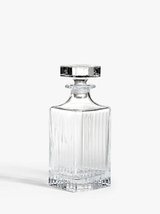 ANYDAY John Lewis & Partners Paloma Timeless Cut Crystal Glass Decanter, 750ml, Clear