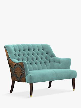 Parker Knoll Fitzrovia Snuggler, Bracklyn Teal with Opulence Teal Back