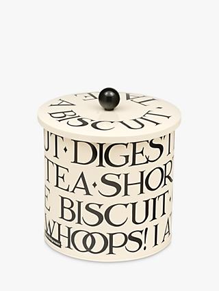 Emma Bridgewater Black Toast Biscuit Barrel, 3.7L, White/Black