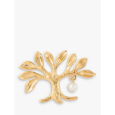 Susan Caplan Vintage 22ct Gold Plated Tree of Life Brooch, Gold