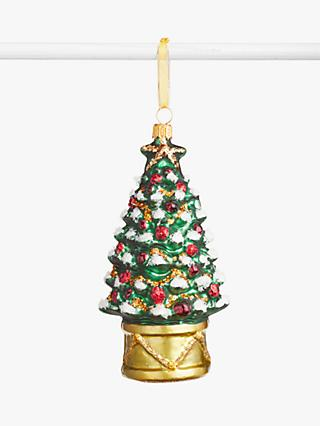 John Lewis & Partners Bloomsbury Christmas Tree Bauble, Multi