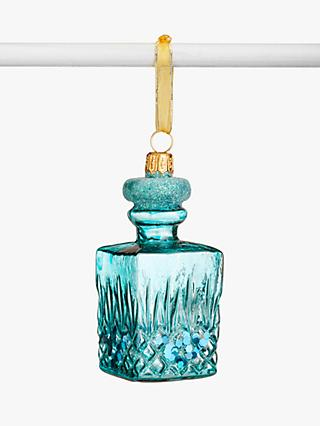 John Lewis & Partners Art Nouveau Gin Decanter Bauble, Blue