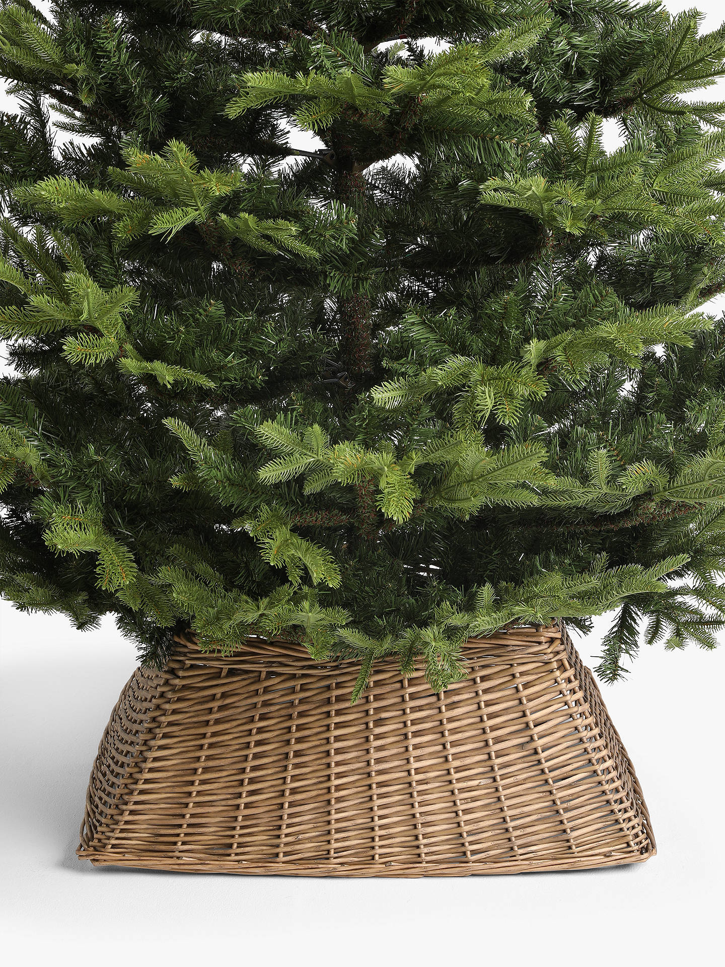 Buy John Lewis & Partners Willow Square Tree Skirt, Natural Online at johnlewis.com