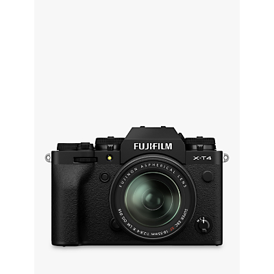 Fujifilm X-T4 Compact System Camera with XF 18-55mm IS Lens, 4K Ultra HD, 26.1MP, Wi-Fi, Bluetooth, OLED EVF, 3� LCD Touch Screen