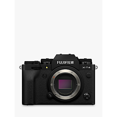 Fujifilm X-T4 Compact System Camera, 4K Ultra HD, 26.1MP, Wi-Fi, Bluetooth, OLED EVF, 3� LCD Touch Screen, Body Only