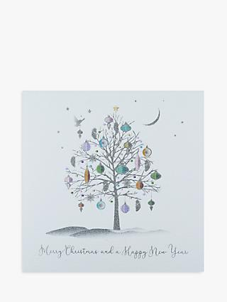 Five Dollar Shake Silver Trees Christmas Cards, Pack of 6