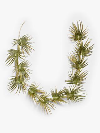 John Lewis & Partners Post Impressionism Palm Leaf Garland, Green / Gold