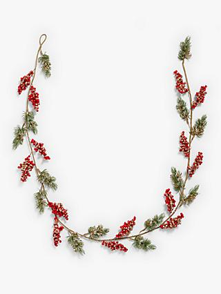 John Lewis & Partners Art of Japan Gold Berry Slim Garland, L180cm