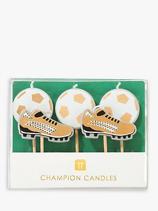 Talking Tables Football Champion Birthday Candles