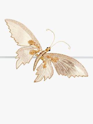 John Lewis & Partners Renaissance Butterfly Tree Decoration, Gold