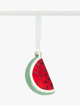 John Lewis & Partners Post Impressionism Watermelon Bauble, Red / Green