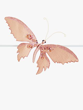 John Lewis & Partners Renaissance Butterfly Tree Decoration, Pink