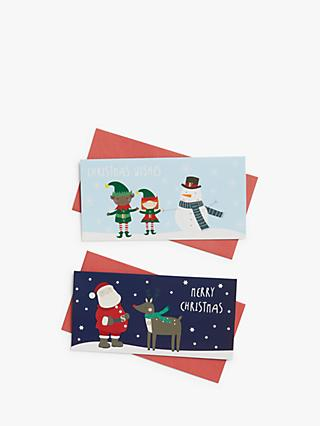 John Lewis & Partners Santa Money Wallet, Pack of 2