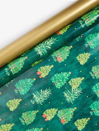 John Lewis & Partners Post Impressionism Trees & Presents Gift Wrap Set